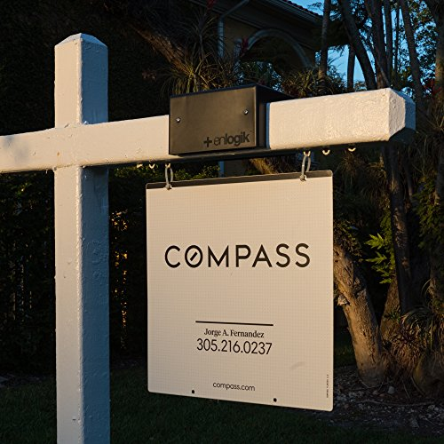 Real Estate Sign Light (Jet Black) is a solar powered led light for the illumination of real estate signs worldwide. #1 Selling in the US!
