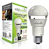 safelumin SA19-450U50 Emergency LED Light Bulbs for Home Safety During a Power Outage or Power Failure, Rechargeable Battery, UL Listed AC120V E26, 40W Equivalent 470lm (5000K Cool White)