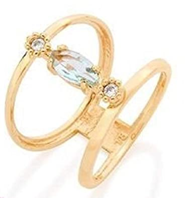 62b5e6bc0dc74 Amazon.com: ROMMANEL BY ROSE Gold Plated Ring with Crystal and ...