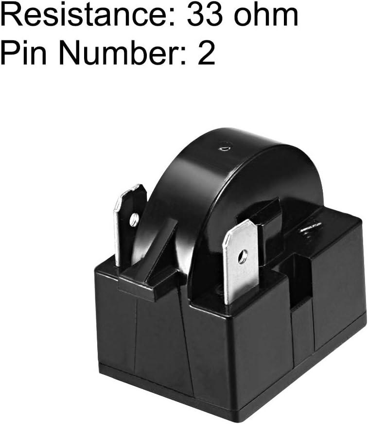 Sourcingmap 2 St/ück 4,7-33 Ohm 1 Pin K/ühlschrank PTC Starter Relay schwarz 33 Ohm 2 Pin,2 Pcs