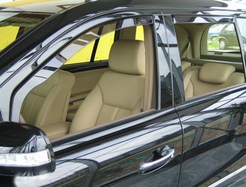 4 Pieces HEKO-31119 Front Rear Wind Deflectors Fits VW Polo 94-2 5-Door Hatchback
