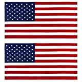 american flag towel Kaufman 2pk - American Flag 30 inch x 60 inch Beach and Pool Towel Set. Two Large