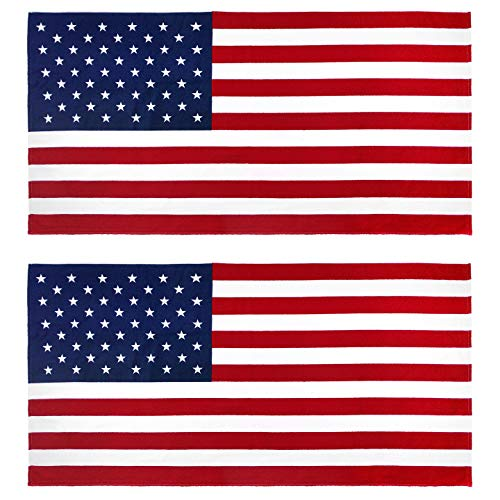 Kaufman 2pk - American Flag 30 inch x 60 inch Beach and Pool Towel Set. Two Large