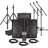 "SubZero SZPA-815 300W 15"" PA System with Microphones and Stands"