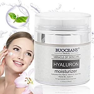 Hyaluronic Acid Cream for Face, Neck and Eye Area, Moisturizer Cream With Active Retinol, Vitamin C, Anti Aging cream Reduces Wrinkles, Fine Lines, Best Day and Night Cream 1.7 fl oz e