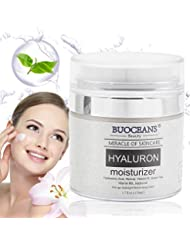 Hyaluronic Acid Cream, Anti Aging Face Cream for Face, Neck and Eye Area, Moisturizer Cream With Active Retinol, Vitamin C, Reduces Wrinkles, Fine Lines, Best Day and Night Cream 1.7 fl oz e