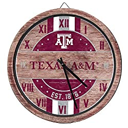 FOCO Texas A&M Aggies NCAA Barrel Wall Clock