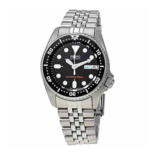 Seiko SKX013K2 Black Dial Automatic Divers Midsize Watch by Seiko Watches