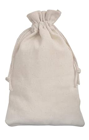 5 bolsas de lino, bolsitas de lino con cordón de algodón ...