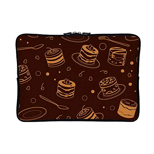 (DKISEE Abstract Crosshatch Pattern Neoprene Laptop Sleeve Case Waterproof Sleeve Case Cover Bag 10 inch for MacBook/Notebook/Ultrabook/Chromebooks)