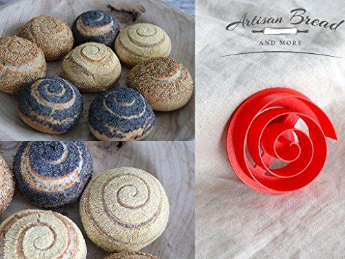 3.5 Swirl / Spiral Pattern Bread Stamp Swirl Concha Cutter Kaiser Roll Stamp