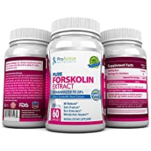 Forskolin Fat Burner- fastest Acting Coleus Forskohlii Supplements - 250 Mg Premium... Free from side effects. Proven Safe and Effective for helping real people lose weight. By ProActive Nutrients