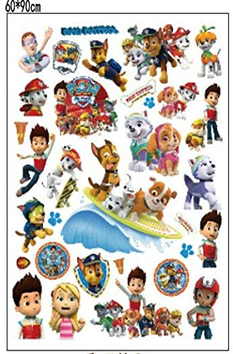 JEWH 3D Dogs Cartoon Wall Stickers tv Patrol Wall Decals adesivos de paredes pawed Animal Mural