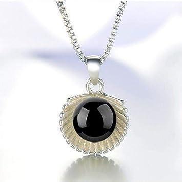 74ffdbc9d509 Collares para Mujer WJsbxx Brillante Rojo Negro Cristal Bola De Piedra  Colgantes Collar para Las