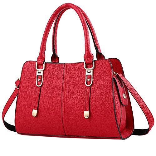 1d98e7a6d8 Rouge La Sacs Femme Dodumi Mode En Noir Main sacs A Femmes Noir Soldes À  nouveau ...