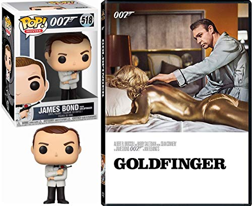 Sean Agent Connery 007 James Bond Goldfinger DVD & Pop Movie Goldfinger Figure in Tuxedo Spy Mission Set ()