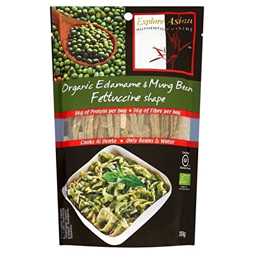 Explore Asian Gluten Free & Organic Edamame & Mung Bean Fettuccine 200g - Pack of 2