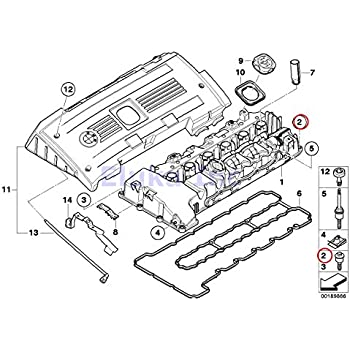 Amazon Com Bmw Oem Engine Cylinder Head Valve Cover Bolt Kit