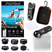Stocking stuffer Iphone camera lens kit attachments set with case | Smartphone accessory phone camera lens attachment | Zoom telephoto fisheye photography accessories | Android Iphone 6 7 8 plus X