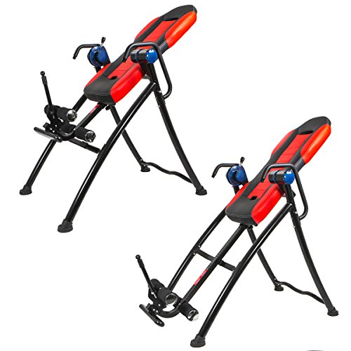 XtremepowerUS Gravity Inversion Therapy Table Fitness Back Pain Relief w/ Padded Backrest by XtremepowerUS (Image #1)