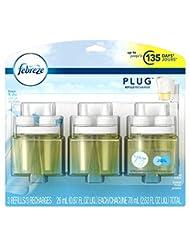 Febreze PLUG Air Freshener Refills Linen & Sky (3 Count, 2.63...