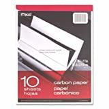 Wholesale CASE of 25 - Mead Carbon Paper Tablet -Carbon Paper Tablet, 8-1/2''x11'', Black Carbon