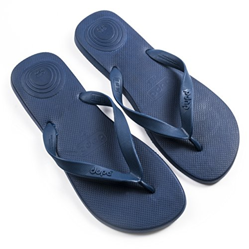 Dupe Revolution Navy Mens Flip Flops, Ideal for Summer & Beach - EU Size 47/48