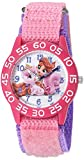 Disney Girl's 'Palace Pet' Quartz Plastic and Nylon Watch, Color:Pink (Model: W002834)