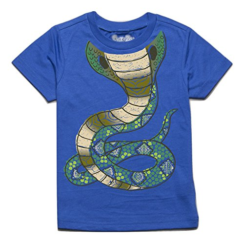 Peek-A-Zoo Toddler Become an Animal Short Sleeve T Shirt - Cobra Royal Blue -