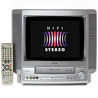"Aiwa VX-S137 13"" 4-Head Hi-Fi Stereo TV/VCR Combo + 24 VHS Hi-Fi Movies for Children"