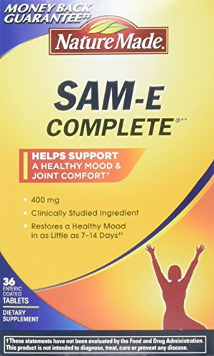 Nature Made SAM-e Complete 400 mg. Tablet (Helps support Healthy Mood & Joint Comfort) Value Size 36 ct by Nature Made