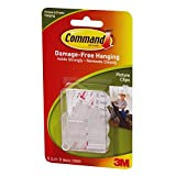 3M Command Picture Clips, White, 6-Clip, 4-PACK