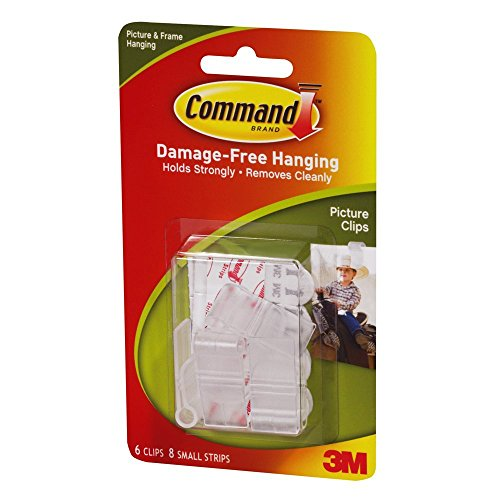 3M Command Picture Clips, White, 6-Clip, 2-PACK