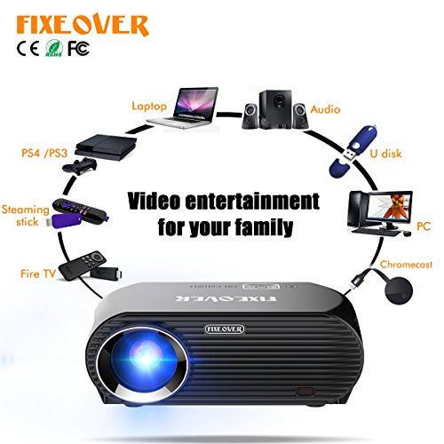 projector fixeover gp100up video 4k android smart wifi wireless projection youtube. Black Bedroom Furniture Sets. Home Design Ideas