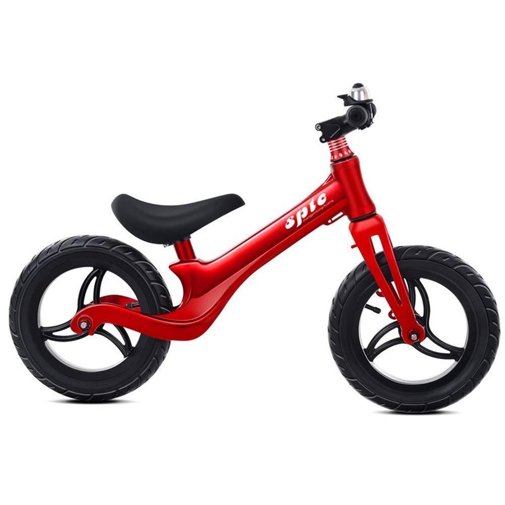 バランスバイク、ガールズバイク - 2、3、4、5、6、7、8歳用、空気入りタイヤ、調節可能なハンドルバー付きシートトレーニングバイク、ガールズボーイズバースデーギフト ZHAOFENGMING (Color : Red, Size : As shown) B07TRGGJMG Red As shown
