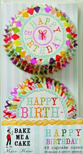 Meri Meri Cupcake Cases, Harlequin Pattern - Happy Birthday