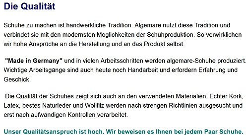 Algemare Herren Pantolette Schwarz Nappaleder Algen-Kork Wechselfußbett Leder 7260_0101, Größe:46
