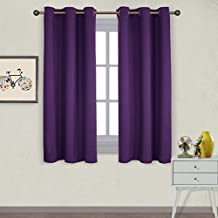NICETOWN Summer Grommet Blackout Curtains - Thermal Insulated Drapes for Living Room (Set of 2,42 x 63 Inch,Royal Purple)