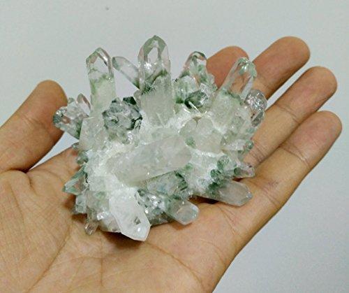 Quartz Cluster - BEADIY-Natural green quartz crystal cluster Druzy Speciment 1 pieces natural raw quartz crystal dressy cluster 2'+ large, each piece unique, different