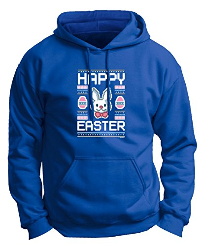 Easter Baskets Kids Easter Gifts Easter Eggs Ugly Easter Sweater Pattern Funny Easter Bunny Premium Hoodie Sweatshirt Small Royal