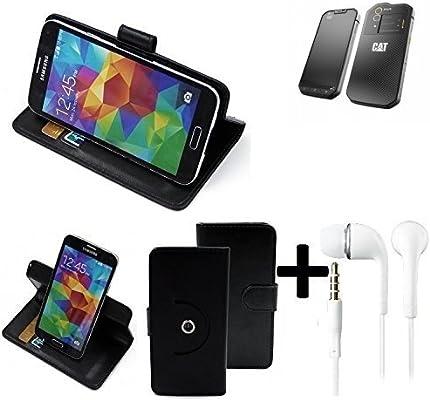 K-S-Trade Top Set: 360° Funda Smartphone para Cat S60, Negro + ...