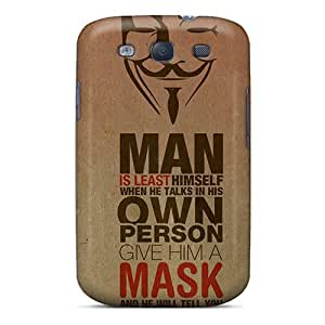 Cute Tpu DustinHVance Anonymous Case Cover For Galaxy S3