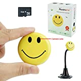 Toughsty™ 8GB Portable Mini Hidden Camera Smiley Face Badge DV Camcorder with Audio and Video Recording Support Car DVR Function