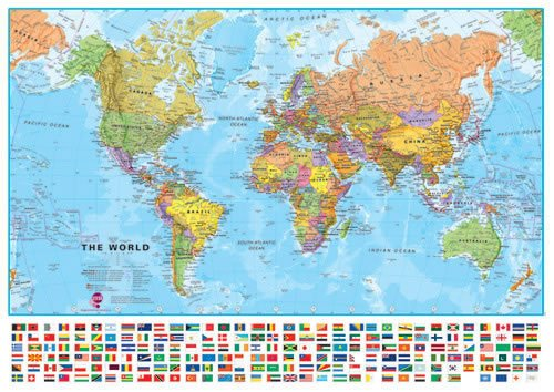 flags of the world poster - 6
