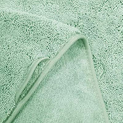 Set 4 Pezzi Asciugamano Mani Premium in Microfibra Anti-Pelucchi 41 x 76 cm ad Asciugatura Rapida Grigio Polyte