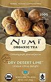 Numi Organic Tea, Dry Desert Lime, 18 Tea Bags (Pack of 6)