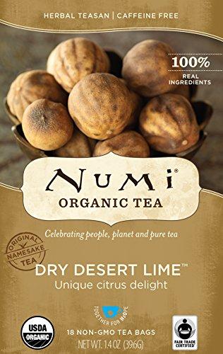 Numi Organic Tea Dry Desert Lime, 18 Count Box of Tea Bags (Pack of 6) Herbal Teasan ()