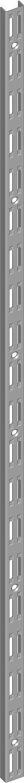 Element System 10001-00014 Wandschiene 2-reihig 4 Abmessungen 2 St/ück 3 Farben//L = 100 cm//wei/ßaluminium//f/ür Regalsystem//Regaltr/äger//Wandregal,