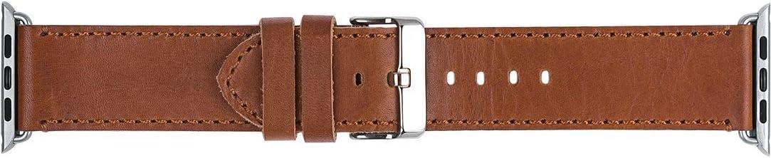 Dbramante1928 Dbramante 1928 Copenhagen Apple Watch Band 42/44 mm - Dark Saddle Brown/Silver, Other