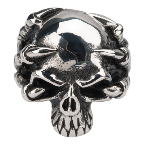 Animewild Inox Skull Clawed Stainless Steel Ring | 12 from Animewild